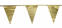 Metallic Gold Traditional 12m 28 Flag Polyester Triangle Flag Bunting
